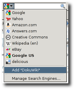 Firefox の OpenSearch